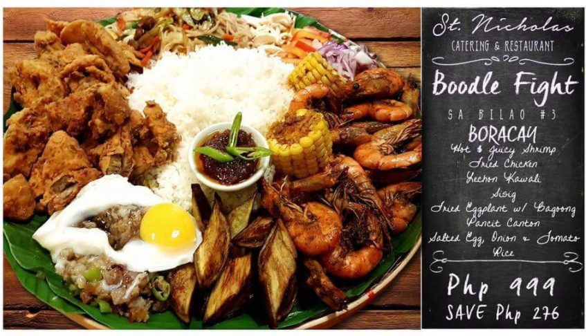 "Boodle Fight sa Bilao"" and ""Shrimp Wednesday"" Only at St. Nicholas Catering and Restaurant"