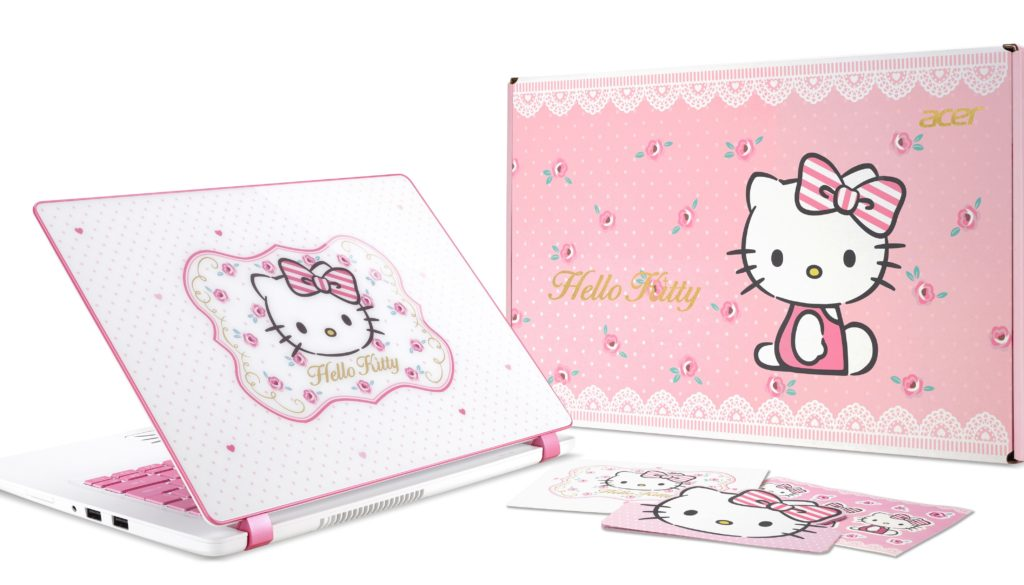 The Acer Limited Edition Hello Kitty Laptop transports us to Hello Kitty Wonderland