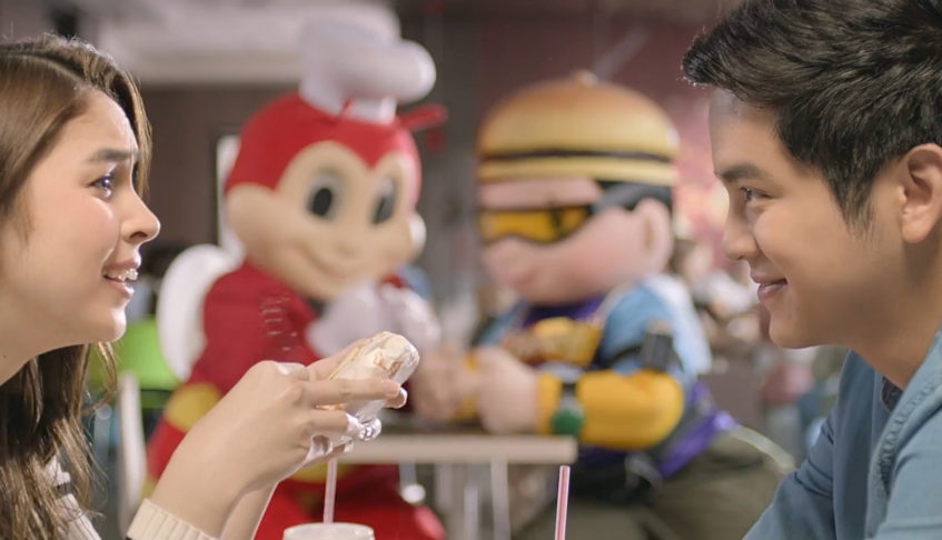"Jollibee hosts nationwide block screening for latest cheesy JoshLia film, ""Love You to the Stars and Back"""