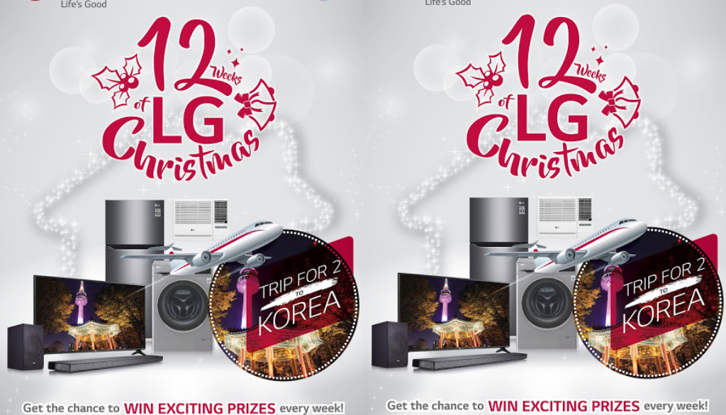 Start counting down to the 12 weeks of Christmas with LG