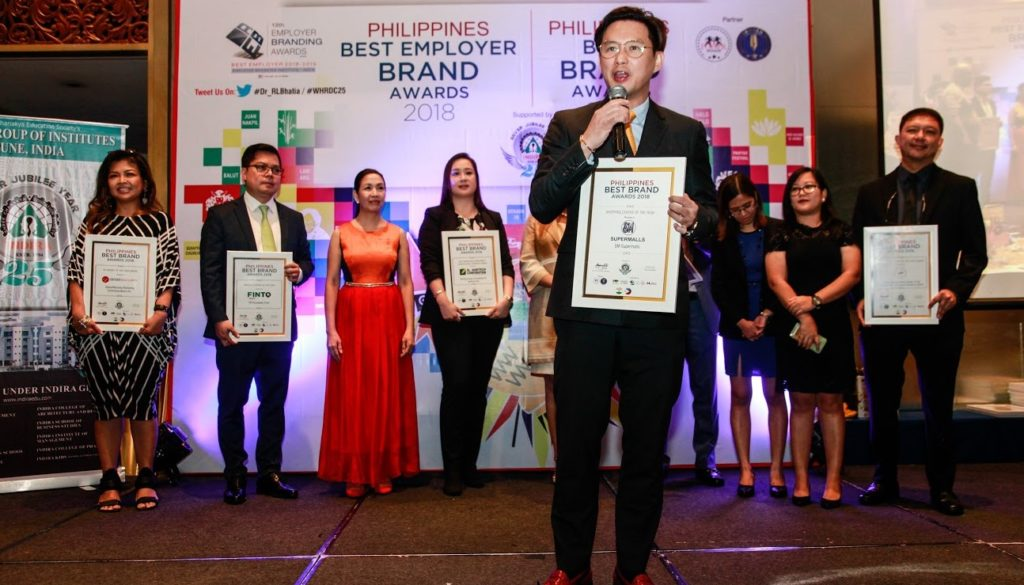 """SM Supermalls wins """"Shopping Centre of the Year"""" award  in Ph Best Brand Awards"""