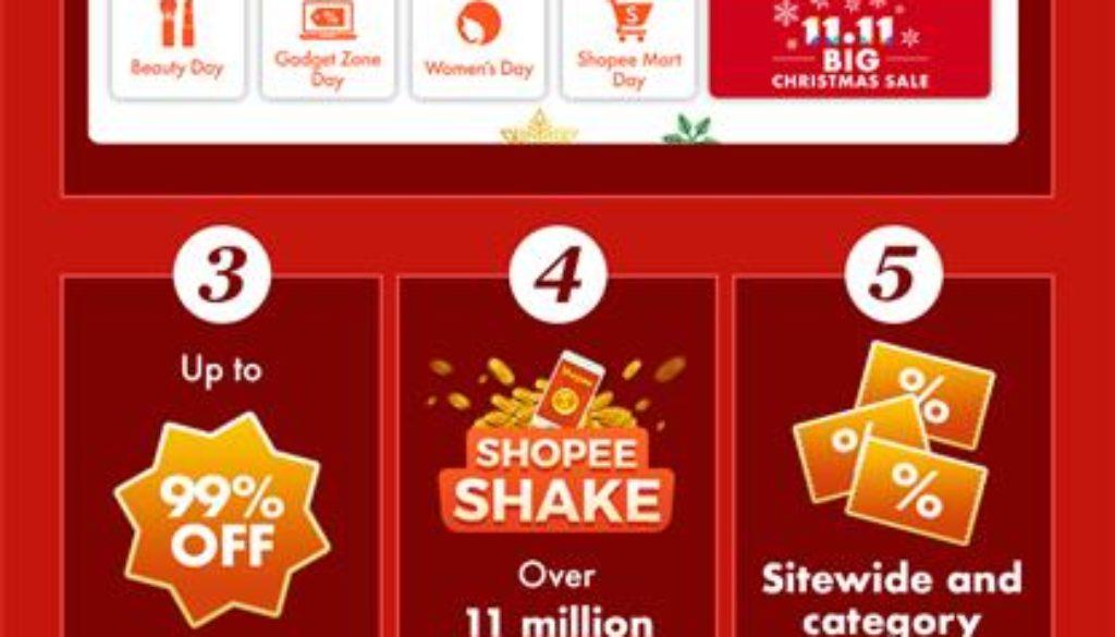 Shopee Kickstarts the Biggest Christmas Sale of the Year, Shopee 11.11 – 12.12 Big Christmas Sale