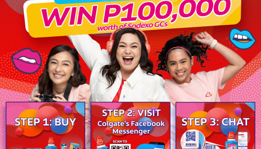 Buy Colgate Smile and Go for your Dreams products at Shopee and Win P100,000