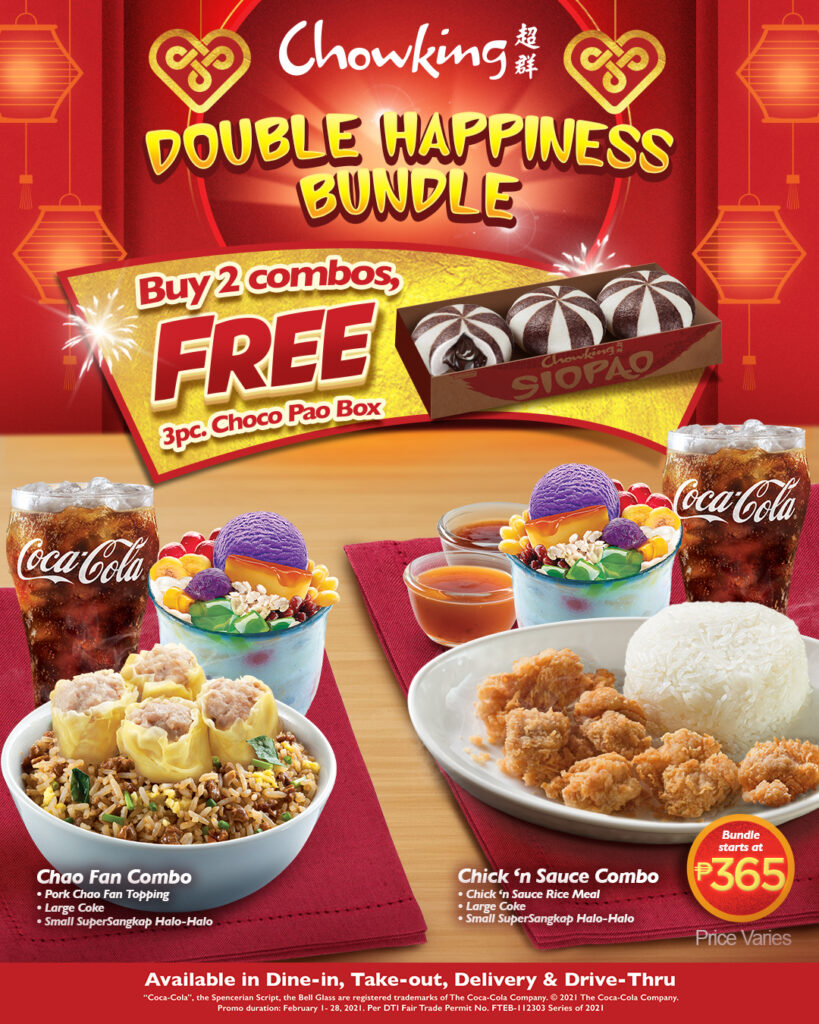 Chowking brings in double happiness for Chinese New Year and Valentine's Day with free Choco Pao boxes