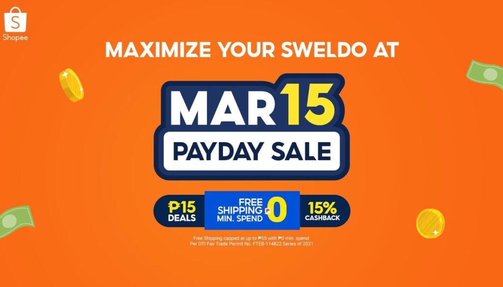 5 Ways to Maximize Your Sweldo at the Shopee 3.15 Payday Sale