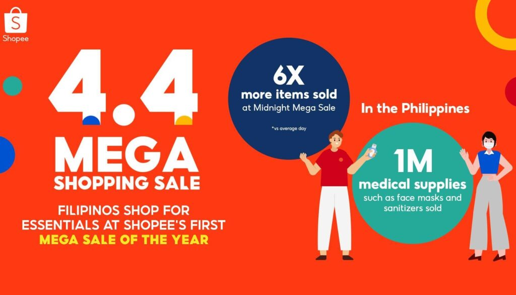 Shopee Allows Filipinos to Shop for Essentials Safely and Conveniently at the 4.4 Mega Shopping Sale