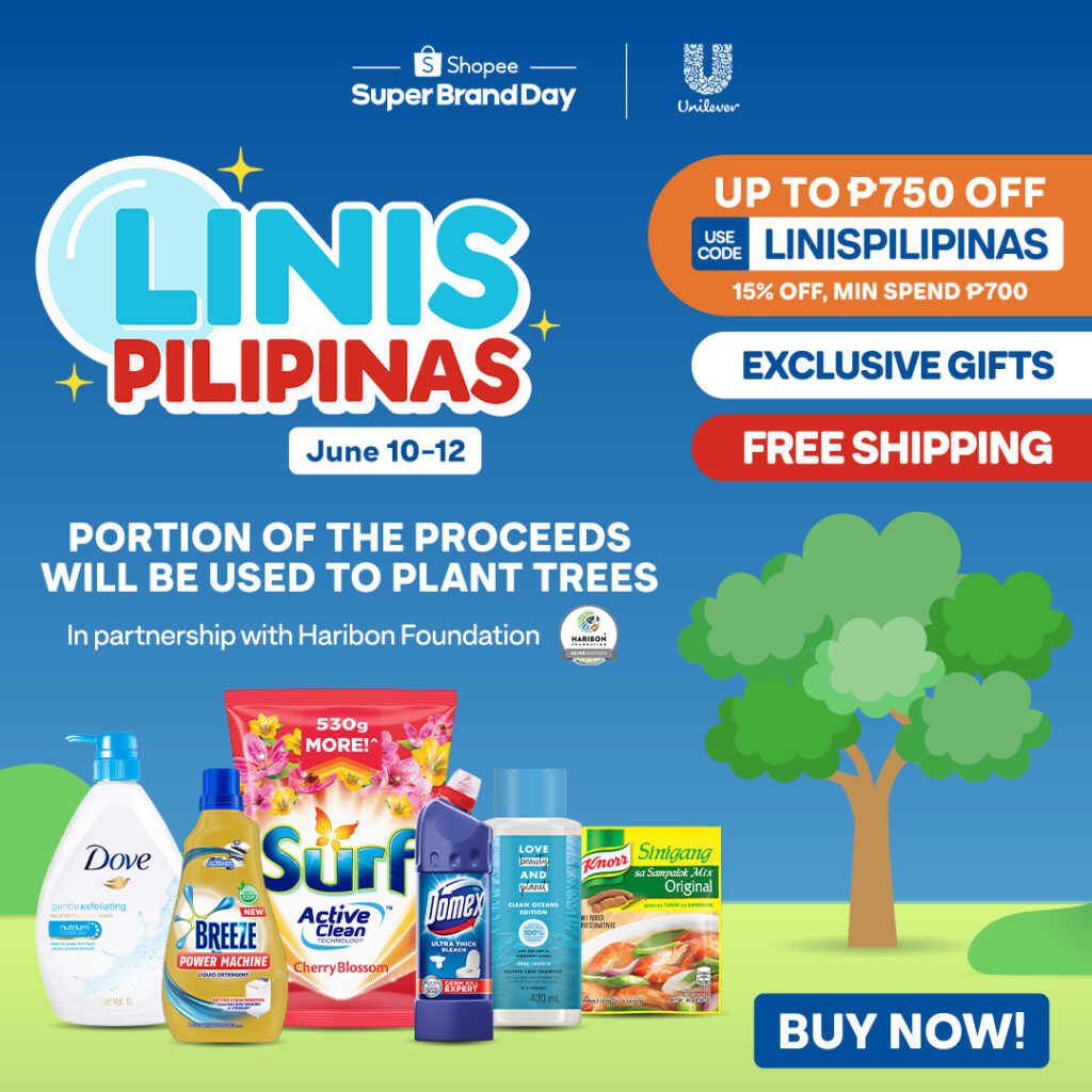 """Unilever and Shopee partner for a Cleaner Future with """"Linis Pilipinas""""campaign"""