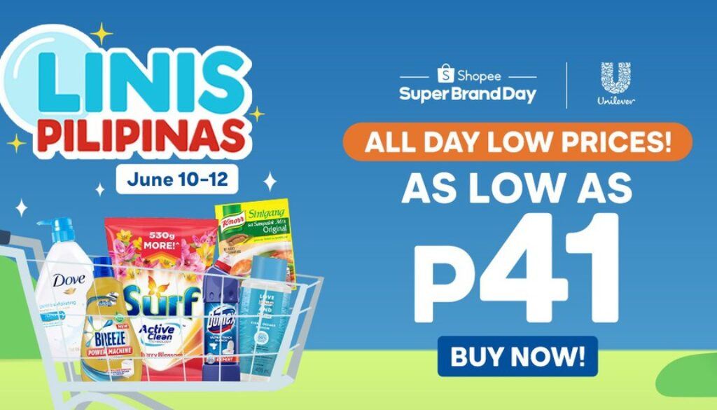 Save the planet and enjoy up to 50% discount with Unilever's Linis Pilipinas campaign on Shopee